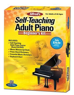 Alfred's Self-Teaching Adult Piano Beginner's Kit: For Adults of All Ages, Boxed Set