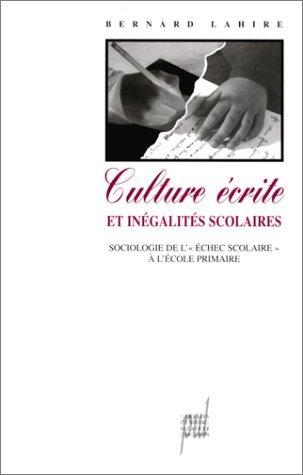 Culture ecrite et inegalites scolaires