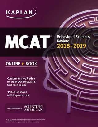 MCAT Behavioral Sciences Review 2018-2019: Online + Book