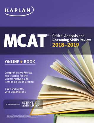 MCAT Critical Analysis and Reasoning Skills Review 2018-2019: Online + Book