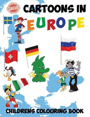 Most Popular Cartoons in Europe: This A4 50 Page Colouring Book Has a Fantastic Collection of the Most Popular Cartoons from 11 Countries in Europe Including, Wallace and Gromit, Asterix, Tintin and Pinnochio. Would Make a Nice Gift or Present for Any Chi