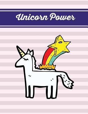 Unicorn Power: Lavender Blush Unicorn Notebook, Journal, Diary (Composition Book Journal) (Large, 8.5x11 In.)
