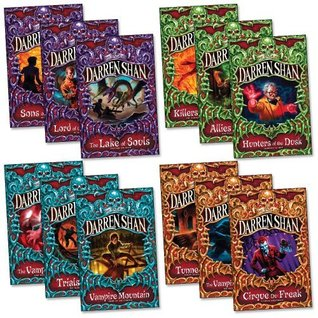 The Saga of Darren Shan Pack, 12 books, (Allies of Night,Cirque du Freak,Hunters of Dusk,Killers of Dawn,Lake of Souls,Lord of Shadows,Sons of Destiny,Vampire Prince,Vampire's Assistant,Trials of Death,Tunnels of Blood,Vampire Mountain).