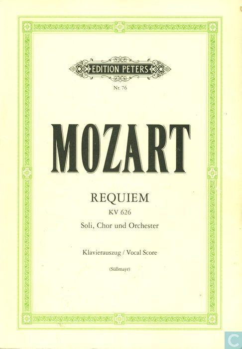 Requiem KV626. Vocal Score