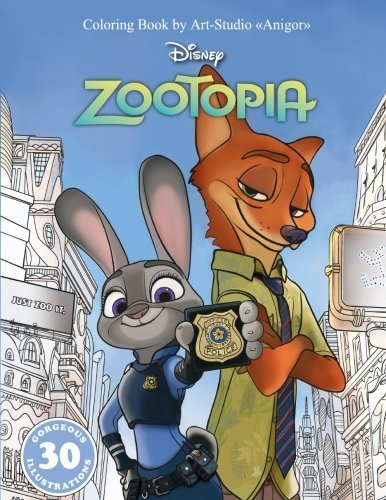 "Coloring Book ""Zootopia"" for Kids and Adults, Disney"