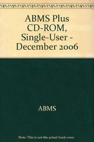 ABMS Plus CD-ROM, Single-User - December 2006