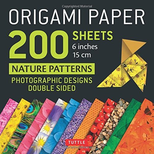 """Origami Paper 200 sheets Nature Patterns 6"""" (15 cm): Tuttle Origami Paper: High-Quality Origami Sheets Printed with 12 Different Designs: Instructions for 8 Projects Included"""