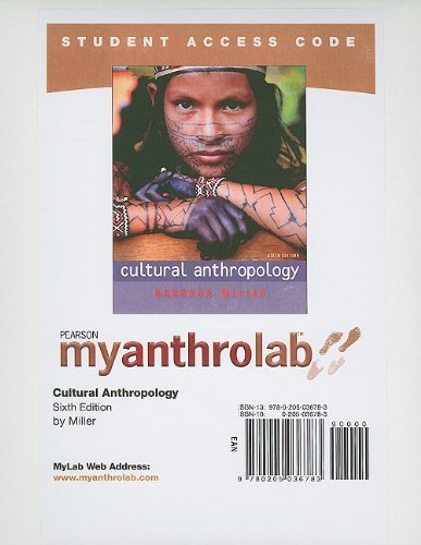 MyAnthroLab -- Standalone Access Card -- for Cultural Anthropology (6th Edition) (Myanthrolab (Access Codes))