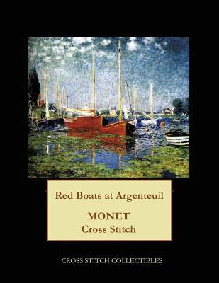 Red Boats at Argenteuil: Monet Cross Stitch Pattern