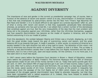 Against Diversity
