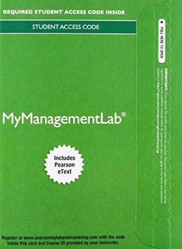 2014 MyManagementLab® with Pearson eText -- Instant Access -- for Strategic Management: A Competitive Advantage Approach, Concepts & Cases