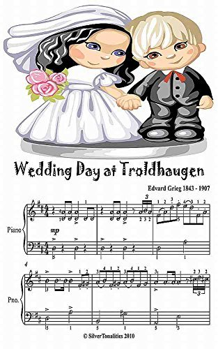 Wedding Day at Troldhaugen Easy Piano Sheet Music Junior Edition