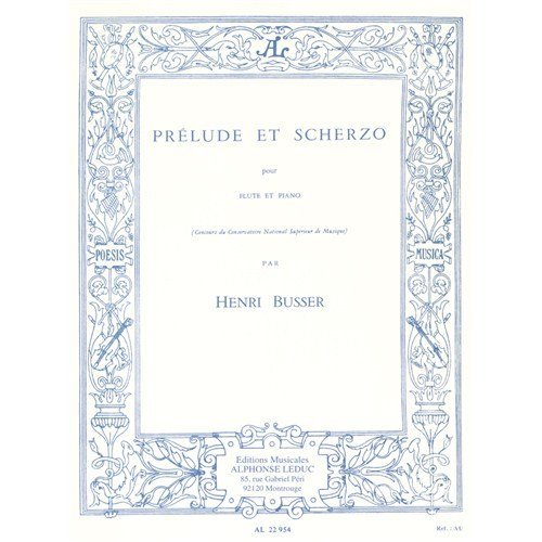 Henri Busser: Prelude et Scherzo (Flûte/Piano)
