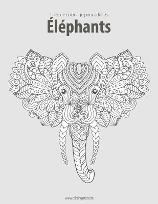 Livre de Coloriage Pour Adultes Elephants 2