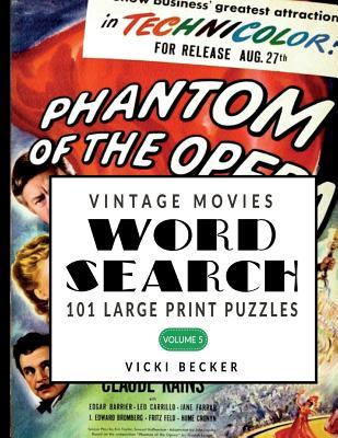 Vintage Movie Word Search: 101 Large Print Word Search Puzzles