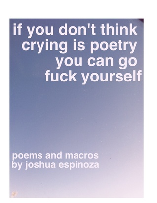 If You Dont Think Crying Is Poetry You Can Go Fuck Yourself