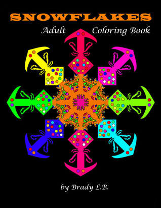 Adult Coloring Book: Snowflakes