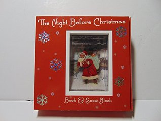 The Night Before Christmas Book and Snow Block