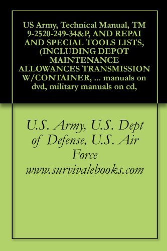 US Army, Technical Manual, TM 9-2520-249-34&P, AND REPAI AND SPECIAL TOOLS LISTS, (INCLUDING DEPOT MAINTENANCE ALLOWANCES TRANSMISSION W/CONTAINER, ASSEMBLY, ... manuals on dvd, military manuals on cd,