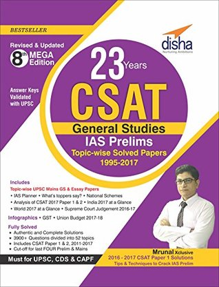 23 Years CSAT General Studies IAS Prelims Topic-wise Solved Papers MOBI PDF por Disha Experts
