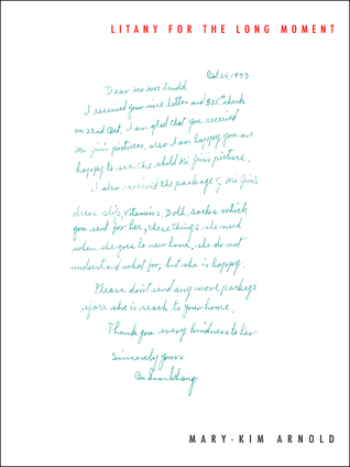 book cover showing a letter