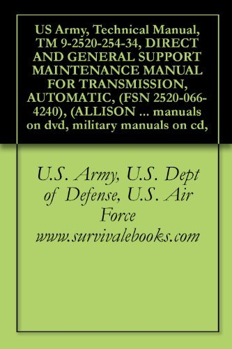 US Army, Technical Manual, TM 9-2520-254-34, DIRECT AND GENERAL SUPPORT MAINTENANCE MANUAL FOR TRANSMISSION, AUTOMATIC, (FSN 2520-066-4240), (ALLISON DIV., ... manuals on dvd, military manuals on cd,