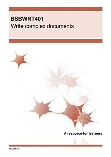 BSBWRT401 Write complex documents