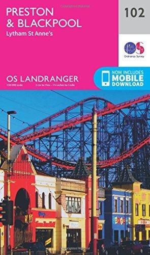 Landranger (102) Preston & Blackpool, Lytham (OS Landranger Map)