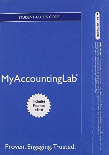 MyAccountingLab® with Pearson eText -- Instant Access -- for Horngren's Accounting, The Financial Chapters