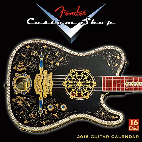 Fender Custom Shop Guitars 2018 Wall Calendar
