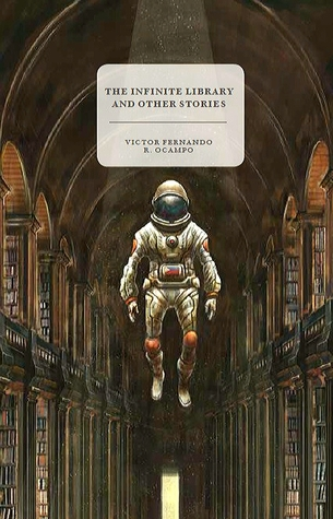 Book cover of an astronaut floating in the library