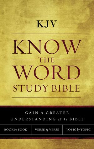 KJV, Know The Word Study Bible, Cloth over Board, Red Letter Edition