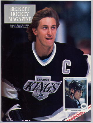 1990 Beckett Hockey Card Monthly Magazine - LA Kings Wayne Gretzky Cover