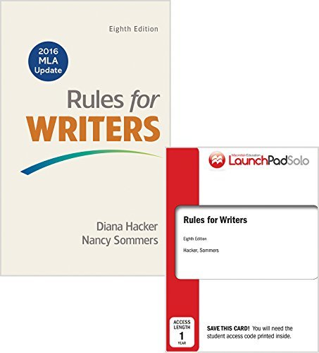 Rules for Writers 8e with 2016 MLA Update & LaunchPad Solo for Rules for Writers 8e