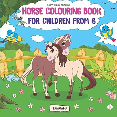 Horse Colouring Book: Cute Ponies and Wild Mustangs