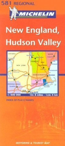 Michelin USA, New England/Hudson Valley Map No. 581