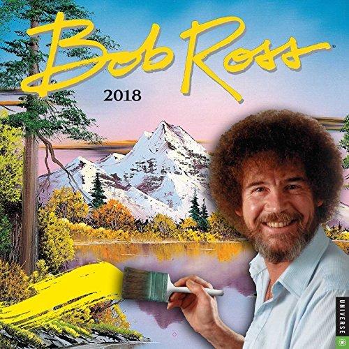 Official Bob Ross The Joy of Painting 2018 Wall Calendar