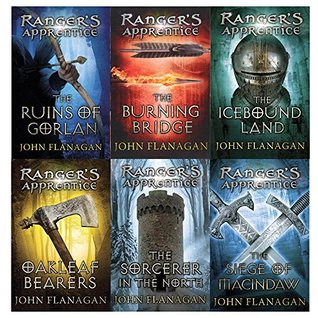 John Flanagan Ranger's Apprentice 6 Books Collection Volume 1 - 6 Books (The Siege of Macindaw, The Sorcerer of the North, The Ruins of Gorlan, The Burning Bridge, The Icebound Land, The Battle for Skandia)