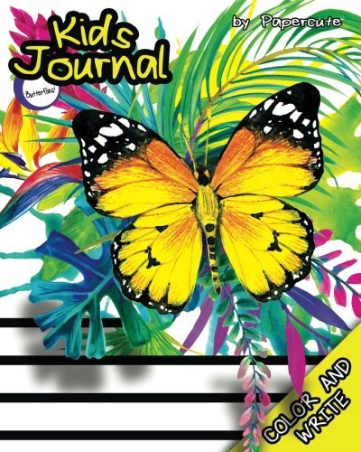 Kids Journal Color and Write: Butterflies! (Butterfly Coloring Book / Journal Diary for Kids)