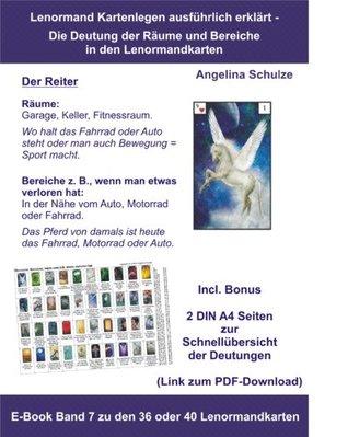 Kartenlegen ausführlich erklärt – Die Deutung der Räume und Bereiche (z.B. wenn man etwas verloren hat) in den Lenormandkarten: E-Book Band 7 zu den 36 ... in den Lenormandkarten)