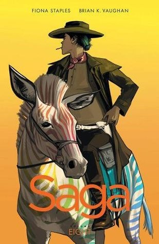 The cover of Saga, Vol. 8 by Brian K. Vaughn & Fiona Staples