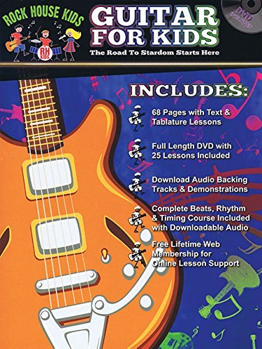Rock House Kids - Guitar For Kids Book/Dvd Online Audio