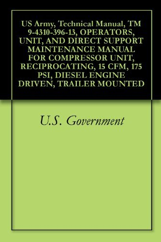 US Army, Technical Manual, TM 9-4310-396-13, OPERATORS, UNIT, AND DIRECT SUPPORT MAINTENANCE MANUAL FOR COMPRESSOR UNIT, RECIPROCATING, 15 CFM, 175 PSI, DIESEL ENGINE DRIVEN, TRAILER MOUNTED