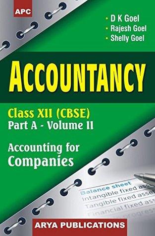 Accountancy Part A for Class XII - Vol. II