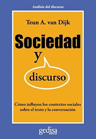 society and discourse dijk teun a van