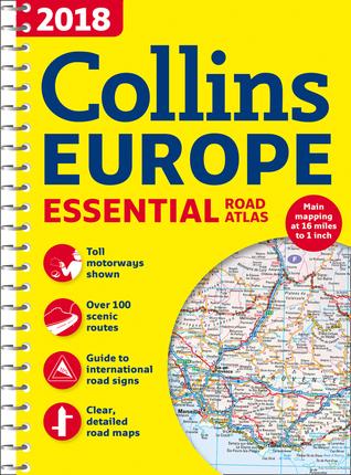 2018 Collins Essential Road Atlas Europe par Collins