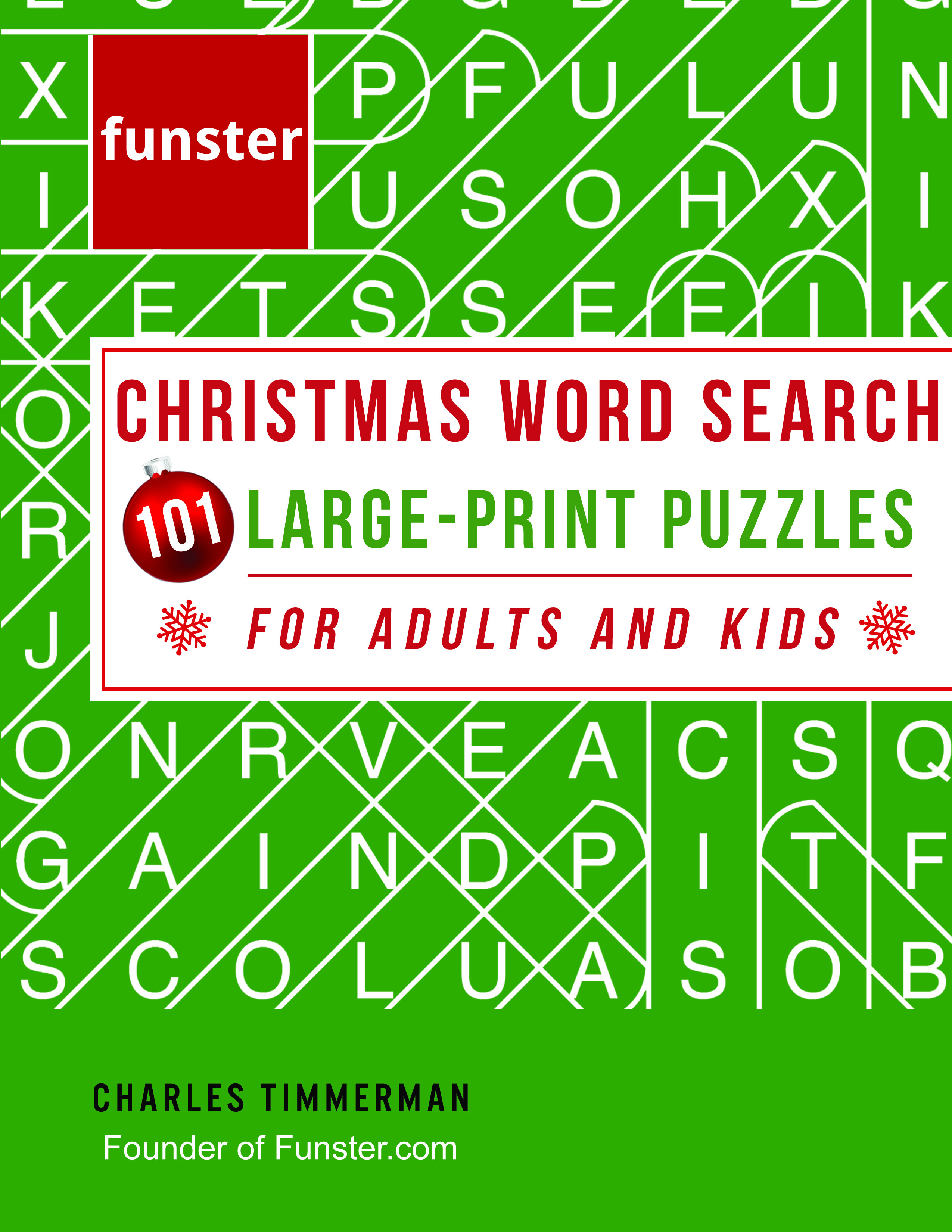 Funster Christmas Word Search 101 Large-Print Puzzles for Adults and Kids