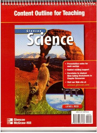 Glencoe Science Content Outline for Teaching Level Red