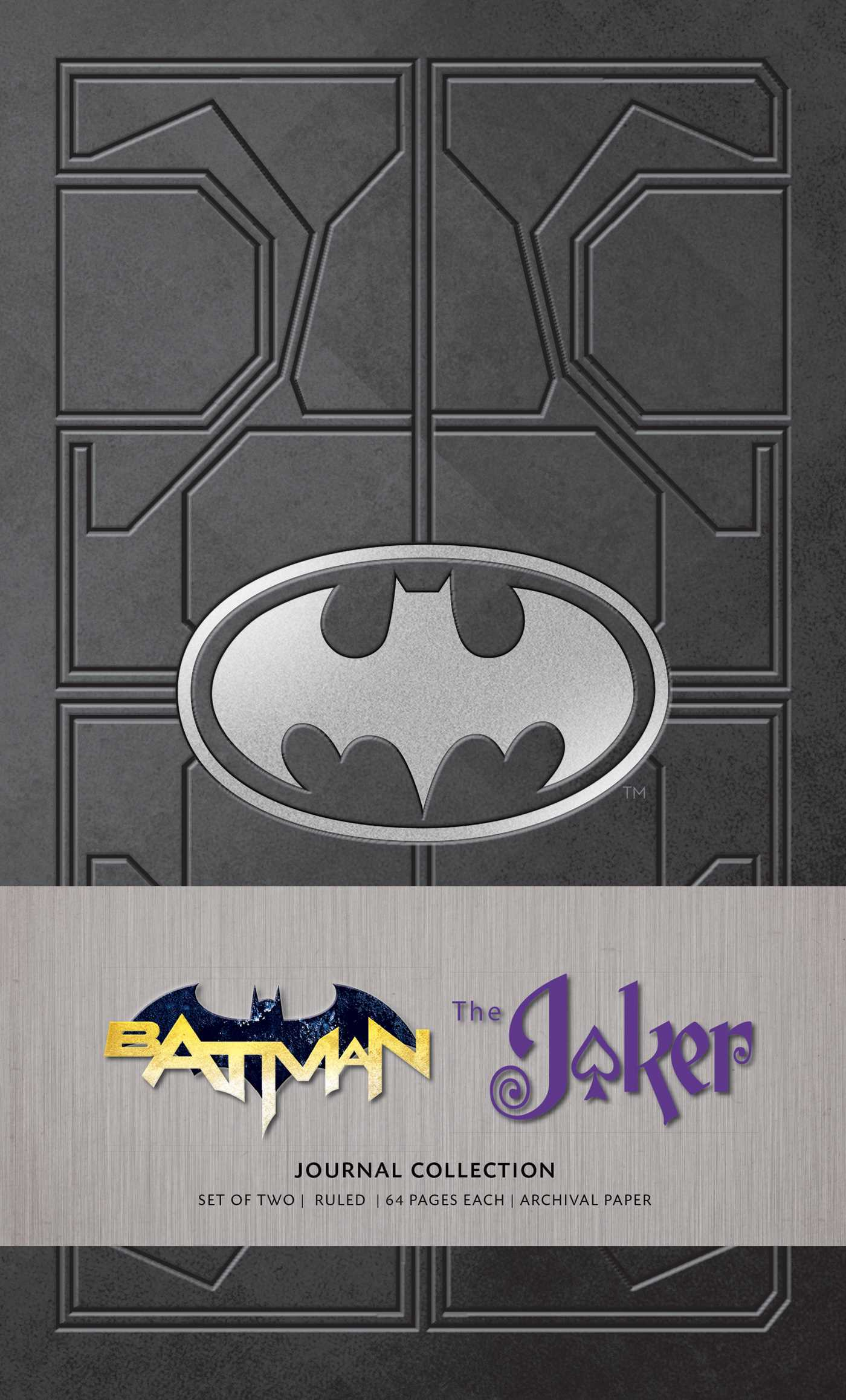 DC Comics: Character Journal Collection (Set of 2): Batman and Joker