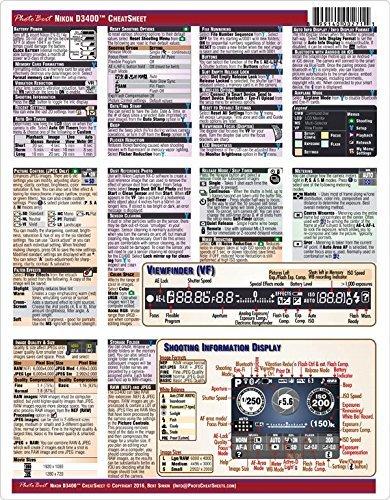 Nikon D3400 Digital SLR Camera CheatSheet